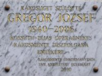 Megemlékezés Gregor József szülőházánál